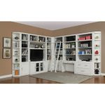 13 Piece White Home Office and Library Wall – Catalina
