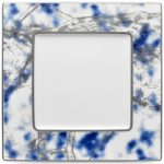 Noritake Jubilant Nights Platinum Square Plate, 10 1/2″