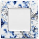 Noritake Jubilant Nights Platinum Square Plate, 9 1/4″