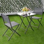 3 pcs Bistro Outdoor Folding Furniture Set