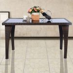 Outdoor Patio Rattan Dining Table