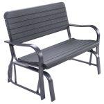 Outdoor Patio Steel Swing Bench Loveseat