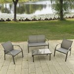 4 pcs Outdoor Patio Steel Table Chairs