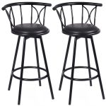 Set of 2 Swivel Bar stools Rotatable Chairs