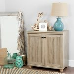 2-Door Rustic Oak Short Storage Cabinet – Hopedale
