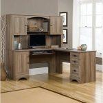 2 Piece Corner Computer Desk with Hutch