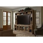2 Piece Rustic Brown TV Stand and Hutch