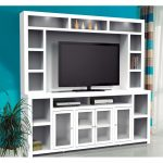 2-Piece White Entertainment Center – Brooklyn
