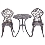 3 pcs Cast Aluminum Bistro Set