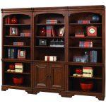 3-Piece Cherry Brown Bookcase Wall – Richmond