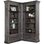3 Piece Rustic Smoke Gray Library Wall – Gramercy Park