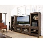 3-Piece Rustic Walnut Entertainment Center – New Castle
