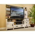 3-Piece Rustic White Entertainment Center