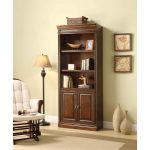 32 Inch Oak Bookcase with Doors – Breckenridge Collection