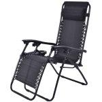 2 pcs Folding Recliner Zero Gravity Lounge Chair