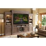 4-Piece Ceruse Entertainment Center – Estancia