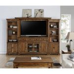 4 Piece Rustic Brown Entertainment Center – Barclay