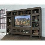 4-Piece Tan Entertainment Center – St. Croix