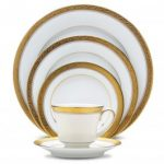 Noritake Crestwood Gold 5-Piece Place Setting-Sample