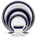 Noritake Crestwood Cobalt Platinum 5-Piece Place Setting-Sample