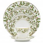 Noritake Holly and Berry Gold 5-Piece Place Setting-Sample
