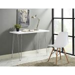 42 Inch Modern White Writing Desk