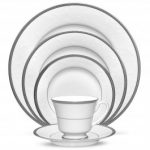 Noritake Regina Platinum 5-Piece Place Setting-Sample