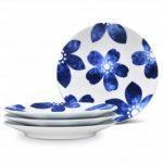 Noritake Sandefjord Plates-Floral Appetizer, Set of 4, 6 1/2″