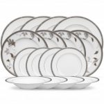 Noritake Rochelle Platinum + Islay Platinum 16-Piece Set