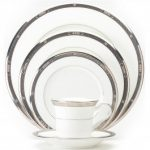 Noritake Chatelaine Platinum 5-Piece Place Setting-Sample