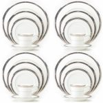 Noritake Chatelaine Platinum 20-Piece Set-Service for 4