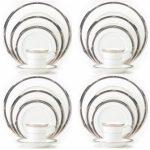 Noritake Chatelaine Platinum 20-Piece Set-Service for 4