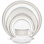 Noritake Montvale Platinum 5-Piece Place Setting-Sample