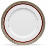 Noritake Ruby Coronet Dinner Plate, 10 1/2″