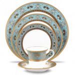 Noritake Georgian Turquoise 5-Piece Place Setting-Sample