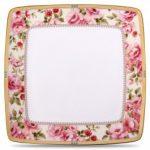 Noritake Hertford Square Plate-Large, 10 1/2″
