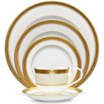 Noritake Odessa Gold 5-Piece Place Setting-Sample