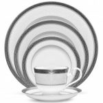Noritake Odessa Platinum 5-Piece Place Setting-Sample