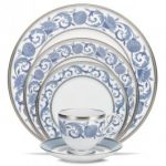Noritake Sonnet in Blue 5-Piece Place Setting-Sample