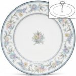 Noritake Jardin Fleuri Handled Hostess Tray