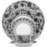 Noritake Chantilly Noire 5-Piece Place Setting