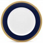 Noritake Odessa Cobalt Gold Dinner Plate