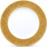 Noritake Noble Ensemble Gold Platter/Charger-Round, 12 3/4″