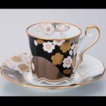 Noritake Ayaminamo Black Cup and Saucer
