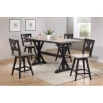 5-Piece Sand and Black Counter Height Dining Set – Orlando