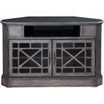 50 Inch Metallic Gray Corner TV Stand