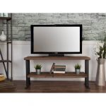 50 Inch Rustic Industrial Natural Wood TV Stand – Brixto