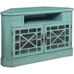 50 Inch Textured Bayberry Blue TV Stand