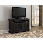 54 Inch Distressed Black TV Stand – Willow