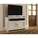 54 Inch Distressed White TV Stand – Willow